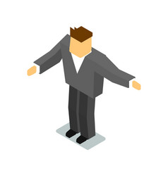 isometric man in business suit vector image