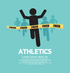 Silhouette Runner at Finish Line vector image vector image