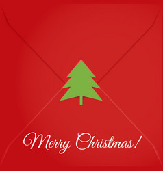 christmas letter sealed tree vector image vector image