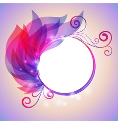 Colorful wing of leaves with swirl and bokhen vector image vector image