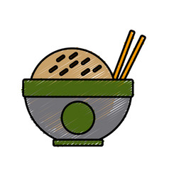 delicious dish of rice vector image