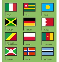 Flags flat set-06 vector image vector image