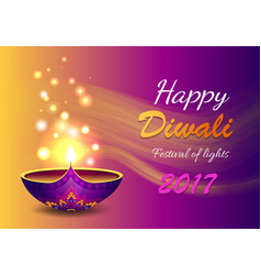 happy diwali festival of light vector image