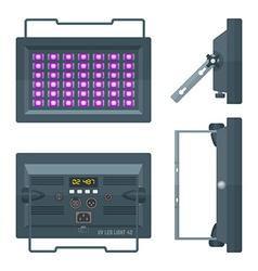 LED ultraviolet professional stage projector vector image