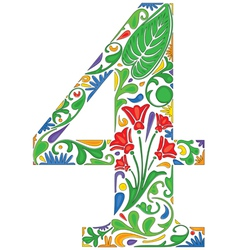 Number four vector image