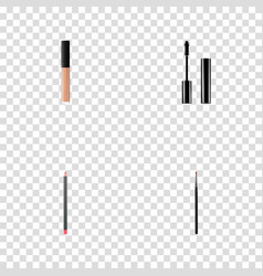 set of greasepaint realistic symbols with cosmetic vector image vector image