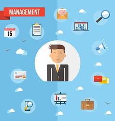 Success businessman flat concept vector image vector image