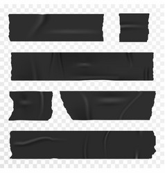 adhesive tape set on transparent background vector image vector image