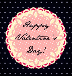 Colorful Valentines Day Card vector image