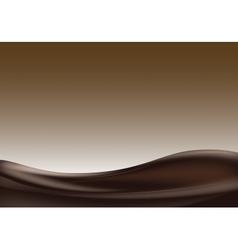 Dark chocolate wave vector image vector image