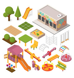 isometric playground vector image