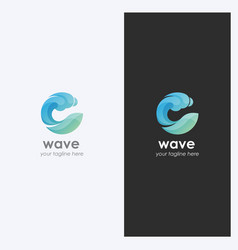 water wave logo design template vector image