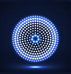 abstract glowing dotted circles dots in circular vector image
