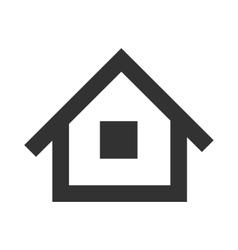 black home icon vector image
