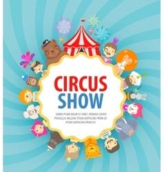 circus logo design template festival or vector image