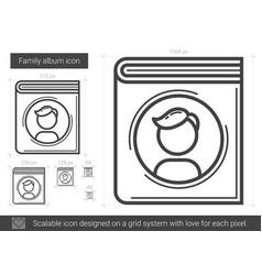 family album line icon vector image vector image