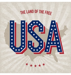usa abstract poster design vector image