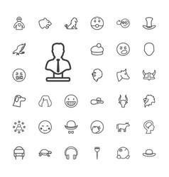 33 head icons vector