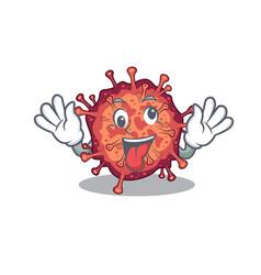 A picture crazy face contagious corona virus vector