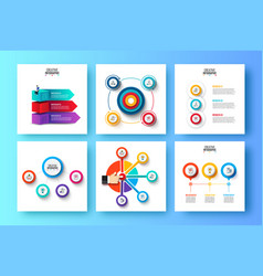 abstract elements graph diagram with 3 4 and vector image