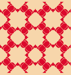 abstract floral seamless pattern red and beige vector image