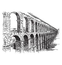 aqueduct vintage vector image