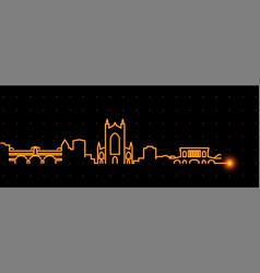 Bath light streak skyline profile vector