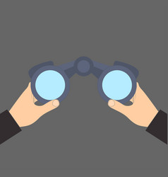binocular in hand icon vector image