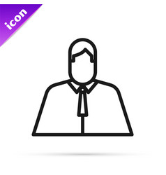 Black line lawyer attorney jurist icon isolated vector