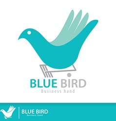 Blue birdjpg vector image