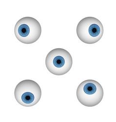 blue human eye vector image