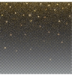Brilliant golden and sparkling dust particles on vector image