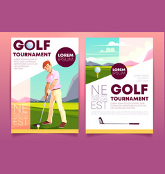 brochure booklet golf tournament vector image
