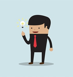 Businessman get the good idea vector image