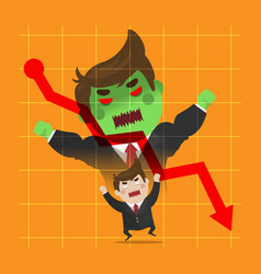 businessman very angry transformation vector image