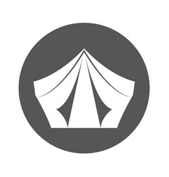 camping tent isolated icon vector image