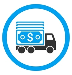 Cash Lorry Rounded Icon vector image