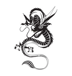 Chinese dragon flat vector