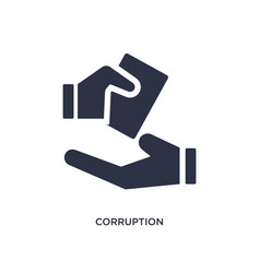 Corruption icon on white background simple vector