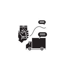 delivery services black concept icon vector image