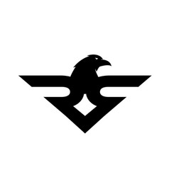 eagle simple logo design modern and simple vector image