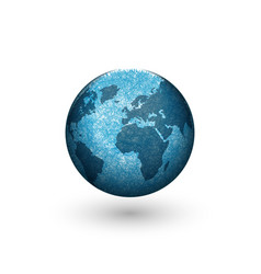 earth globe logo mockup design creative 3d shape vector image