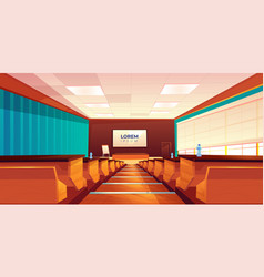Empty auditorium lecture hall or meeting room vector