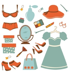 Fashion elements collection vector image