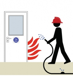 fire door vector image