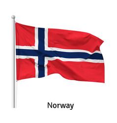 flag kingdom norway vector image