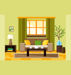 flat living room vector image