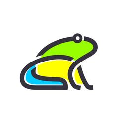 Frog animal logo design modern simple minimalist vector