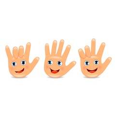 Funny palm hand vector image
