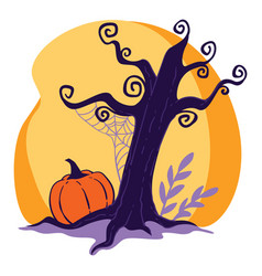 halloween holidays celebration scary landscape vector image